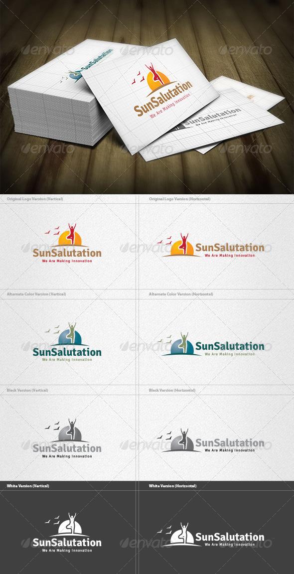 Sun Salutation Logo - Nature Logo Templates