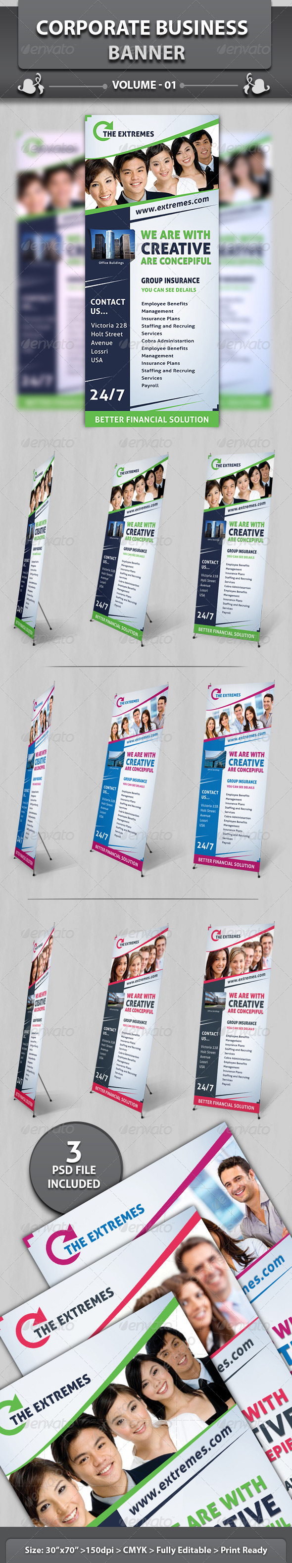 Corporate Business Banner | Volume 3 - Signage Print Templates