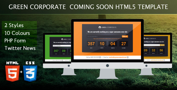 Green Corporate Under Construction Template - Under Construction Specialty Pages
