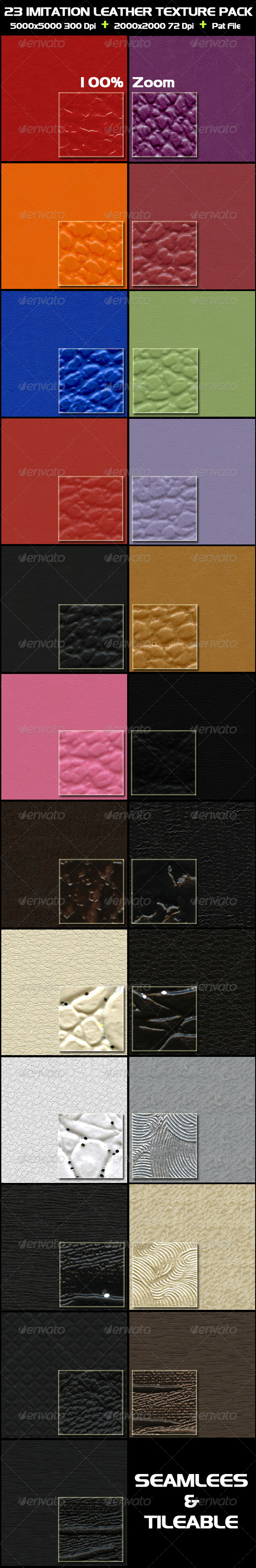 23 Imitation Leather Texture Pack - Fabric Textures