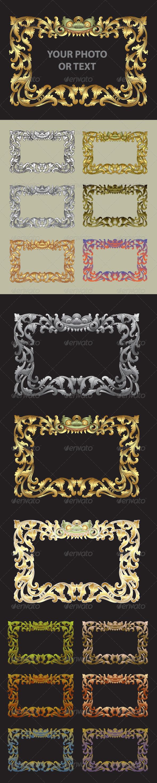Balinese Traditional Ornament Frame - Flourishes / Swirls Decorative