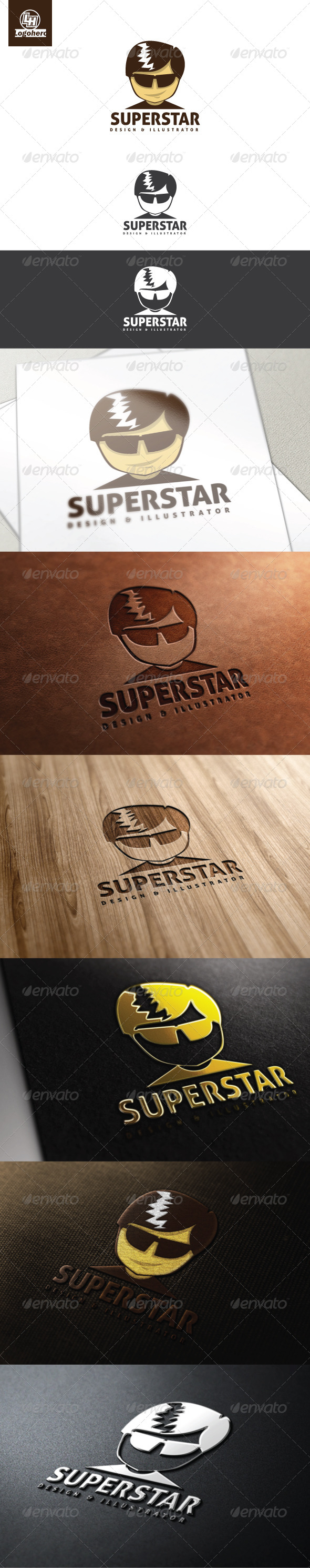 Superstar Logo Template - Humans Logo Templates