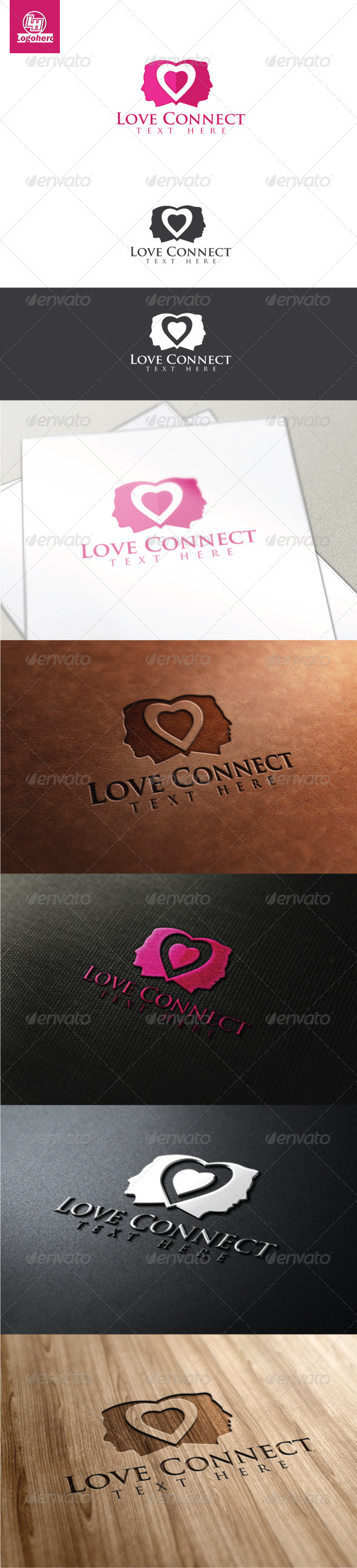 Love Connect Logo Template - Humans Logo Templates