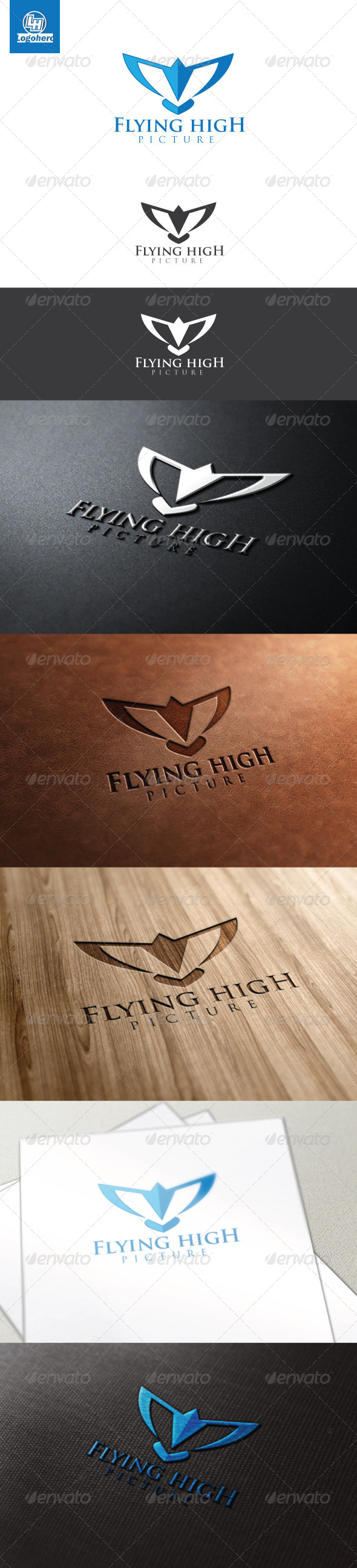 Flying High Logo Template - Symbols Logo Templates