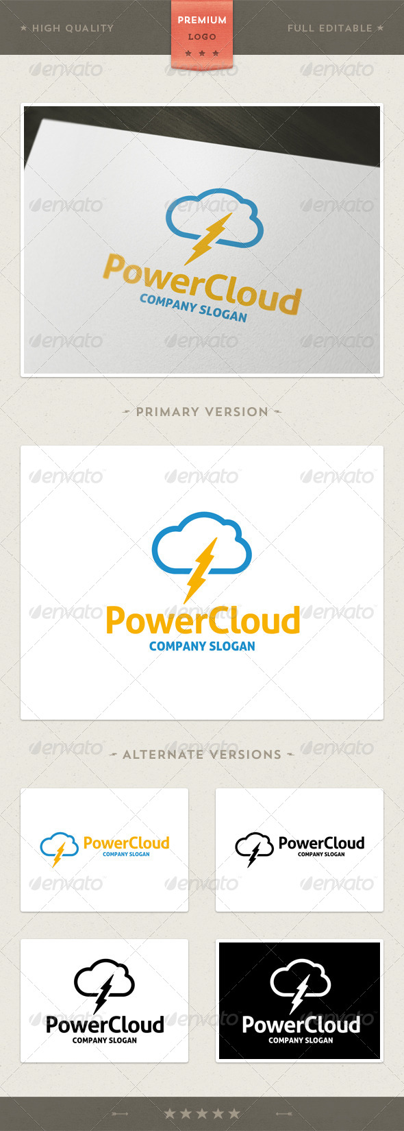 Power Cloud - Symbols Logo Templates