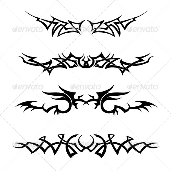 Tribal Vector Set - Tattoos Vectors