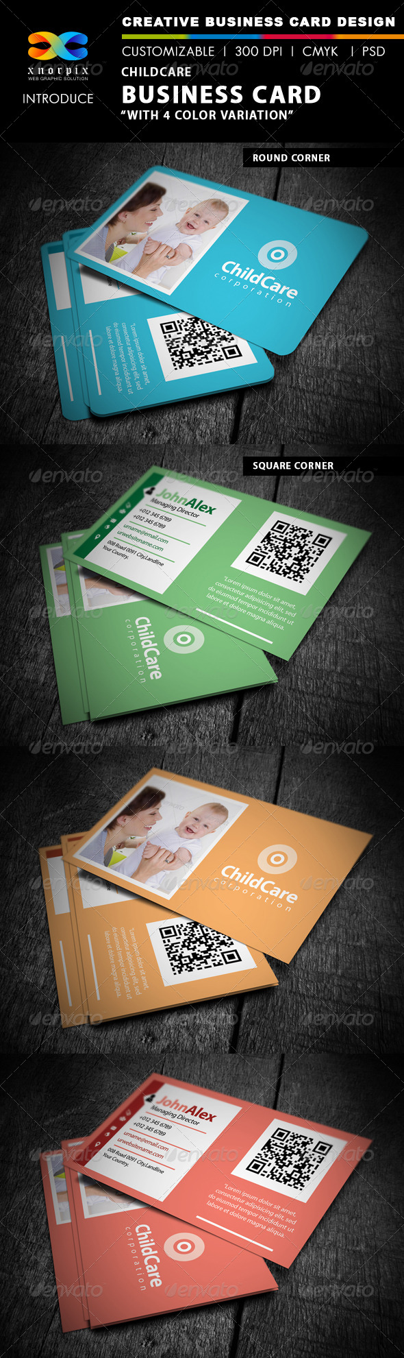 Childcare Business Card - Industry Specific Business Cards
