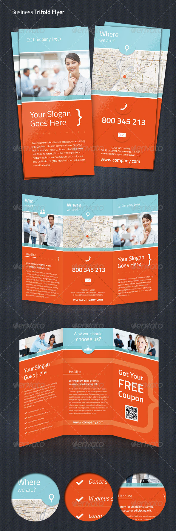 Business Trifold Flyer - Corporate Flyers