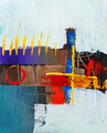 very nice I Abstract Painting In Canvas