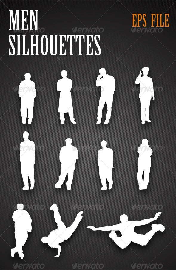 Men Silhouettes - People Characters