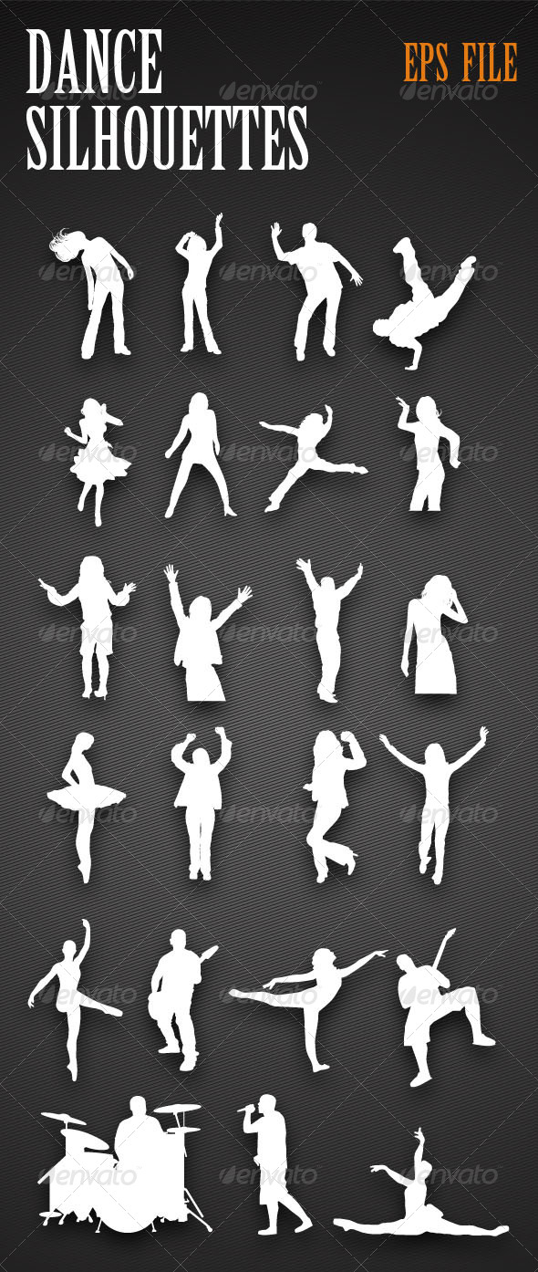 Dancing People Silhouettes - People Characters