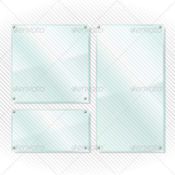 Glass Boards - Objects Vectors