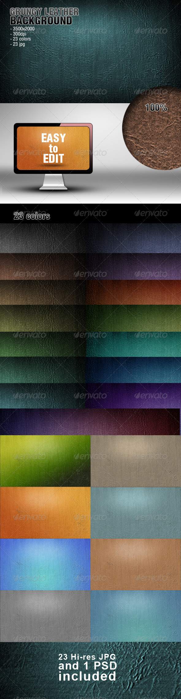 Grungy Leather Background - Abstract Backgrounds