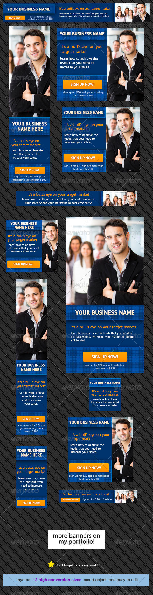 Corporate Banner Design Template 8 - Banners & Ads Web Elements