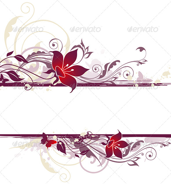 Floral Background with Violet Flowers - Backgrounds Decorative