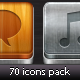 70 icons pack - GraphicRiver Item for Sale