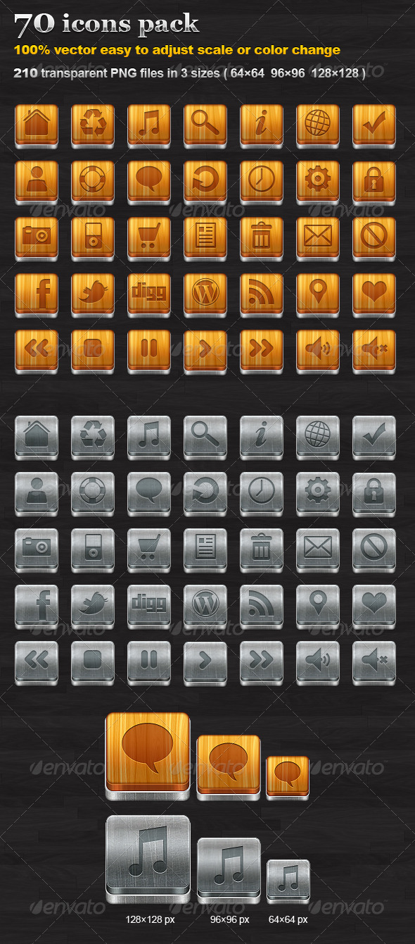 70 icons pack - Web Icons