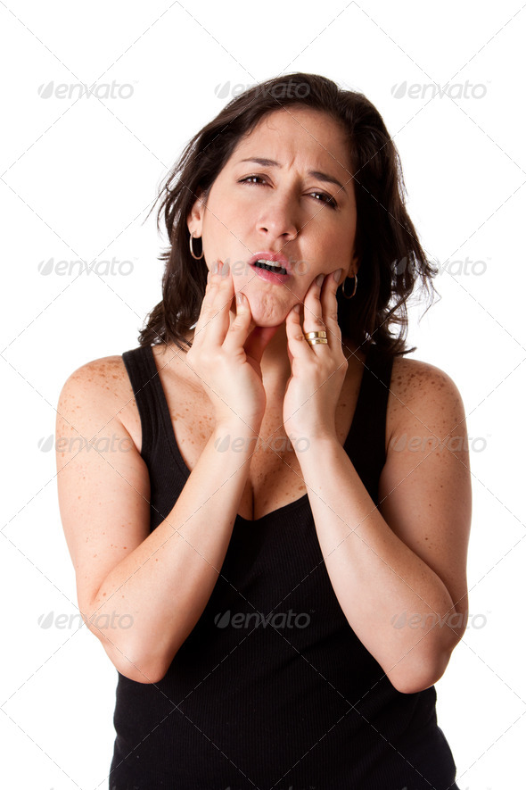 Woman with dental jaw pain - Stock Photo - Images