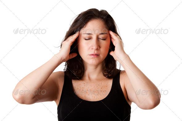 headache migraine - Stock Photo - Images