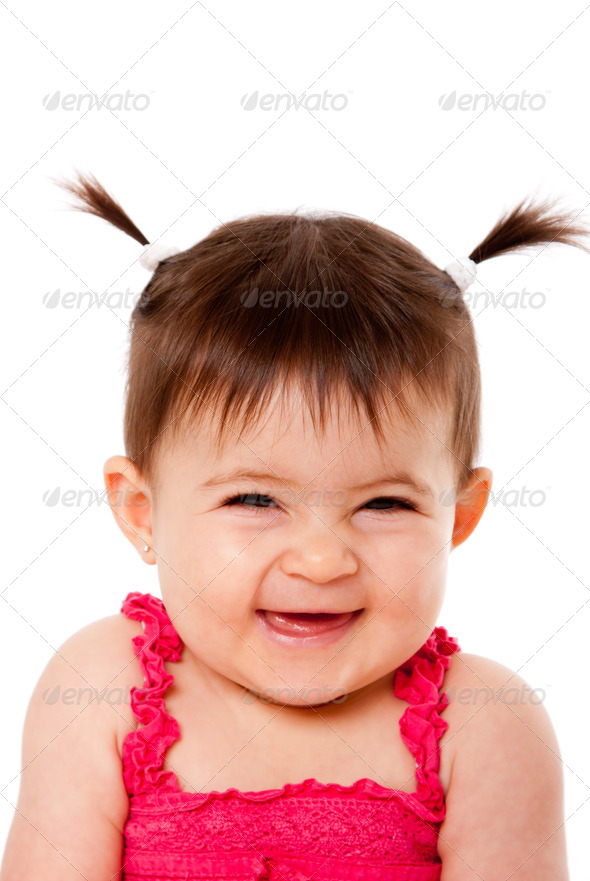 Happy laughing baby - Stock Photo - Images