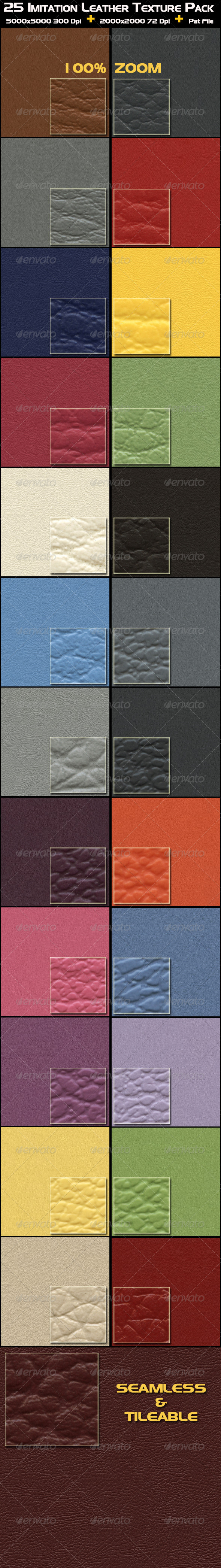 25 Imitation Leather Texture Pack - Fabric Textures
