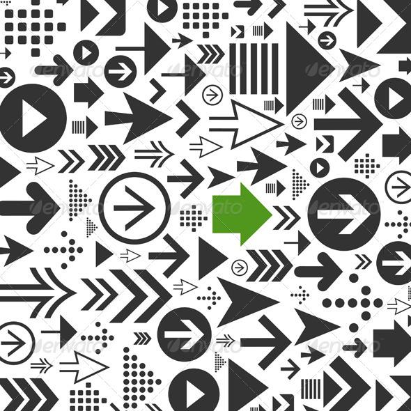 Background of Arrows - Miscellaneous Vectors