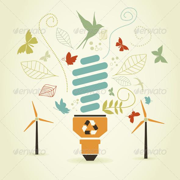 Energy Saving Bulb - Miscellaneous Vectors
