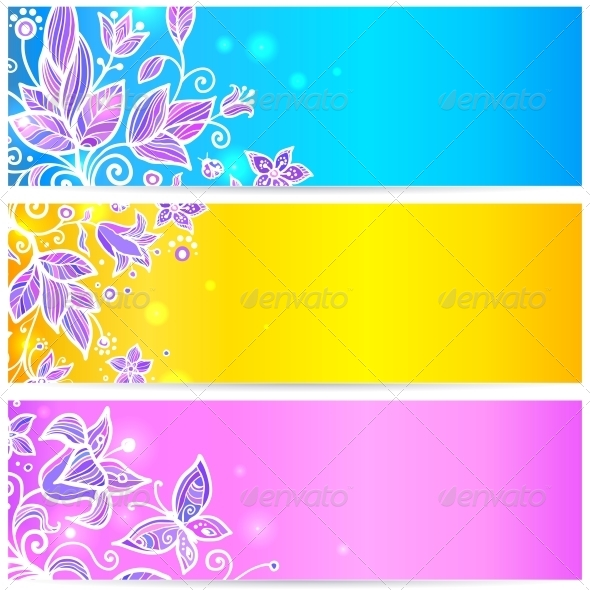 Colorful Flower Banners - Flowers & Plants Nature