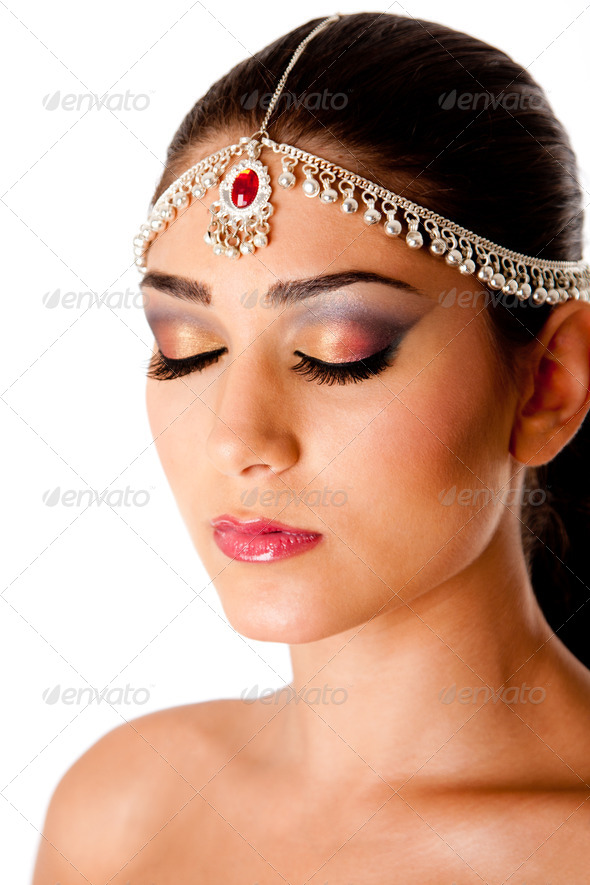 Arabic beauty face - Stock Photo - Images