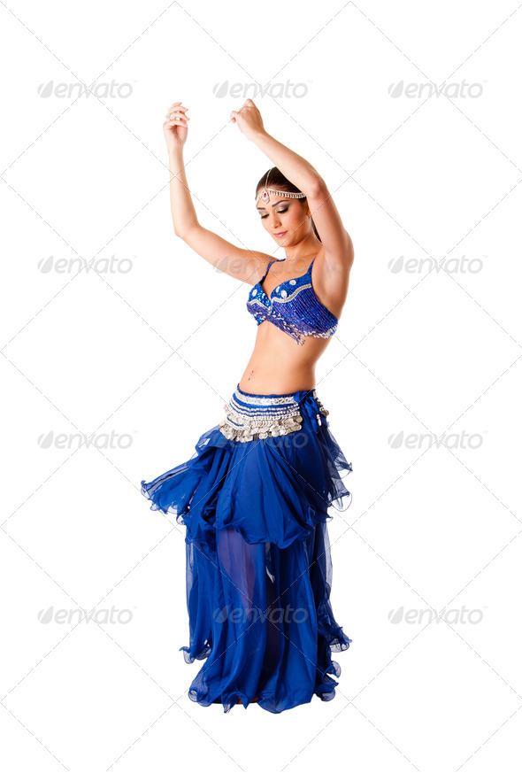 Beauty belly dancer - Stock Photo - Images