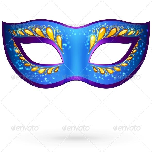Vector Venitian Carnival Mask - Patterns Decorative