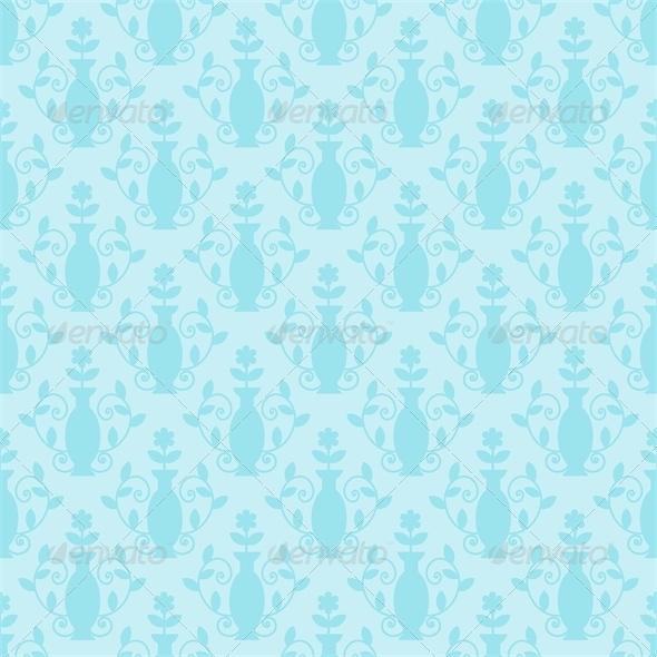 Blue Damask Pattern - Patterns Decorative