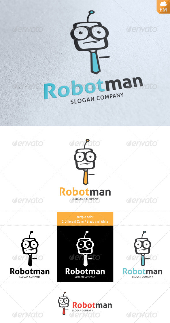 RobotMan - Humans Logo Templates