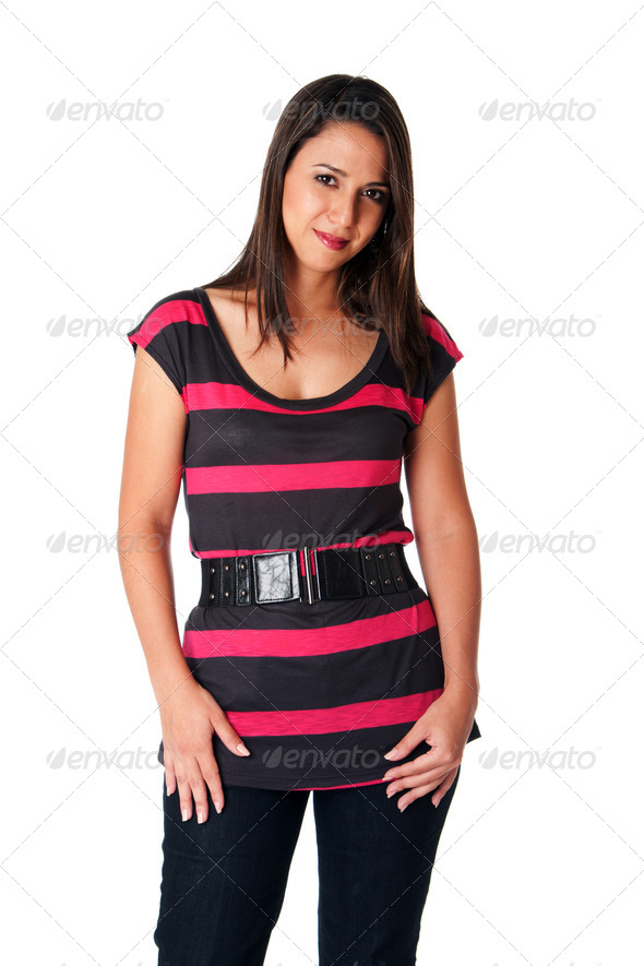 Casual young woman - Stock Photo - Images
