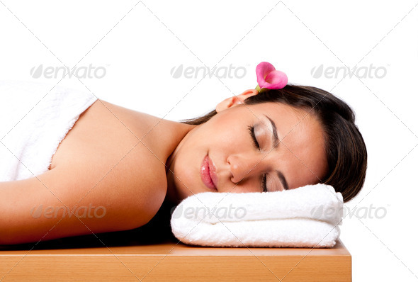 Beauty woman in spa - Stock Photo - Images