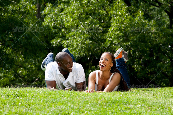 Happy African couple - Stock Photo - Images