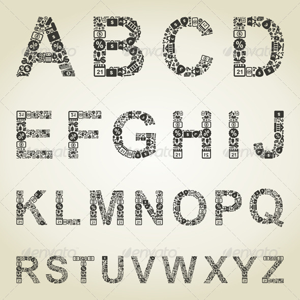 Alphabet Business - Miscellaneous Vectors