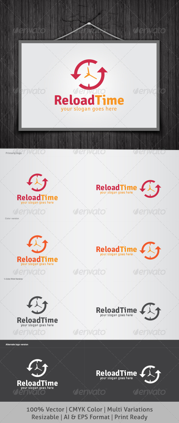 Reload Time Logo - Objects Logo Templates