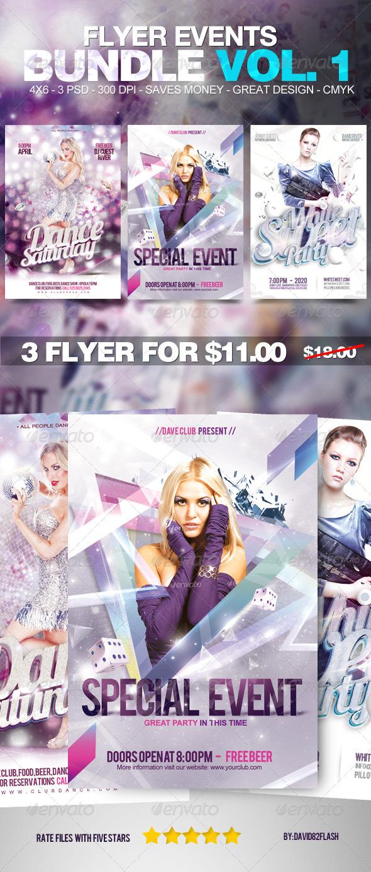 Flyer Events Bundle Vol. 1 - Events Flyers