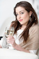 Woman enjoying a glass of wine - PhotoDune Item for Sale