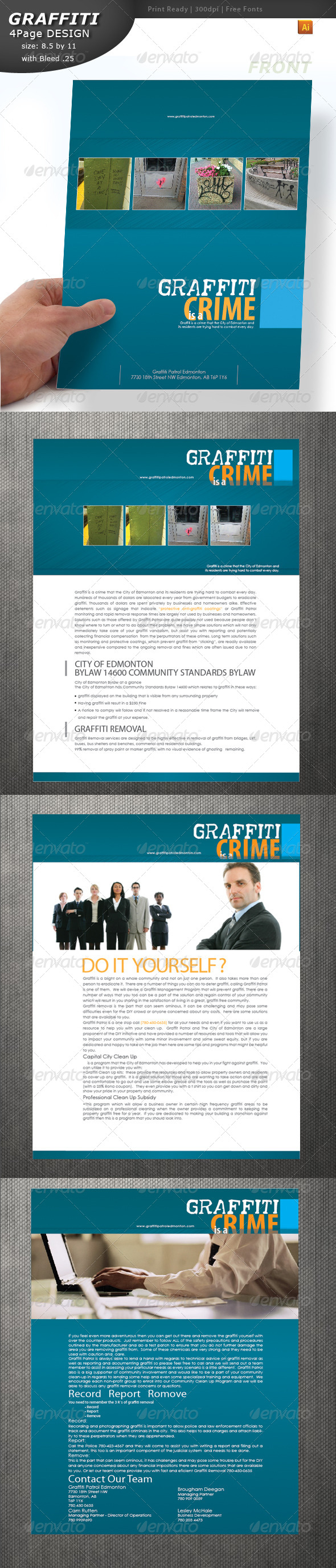 Graffiti Brochure - Brochures Print Templates