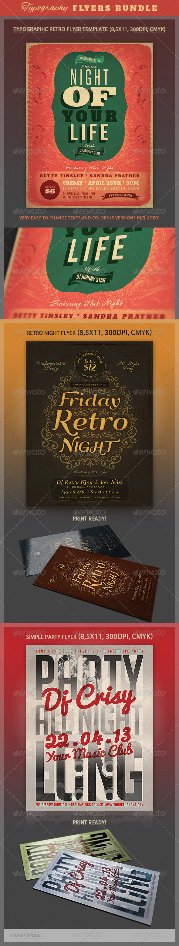 Typography Flyers Bundle - Events Flyers