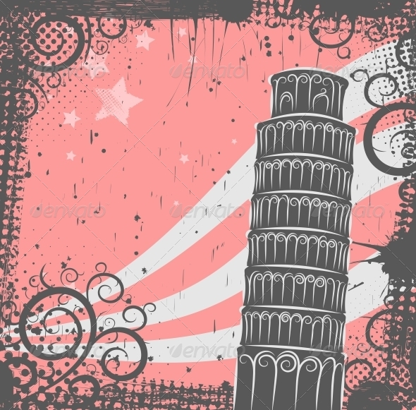 Tower of Pisa Background - Buildings Objects