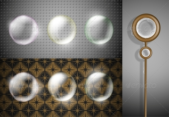 Set of Soap Bubbles - Decorative Symbols Decorative