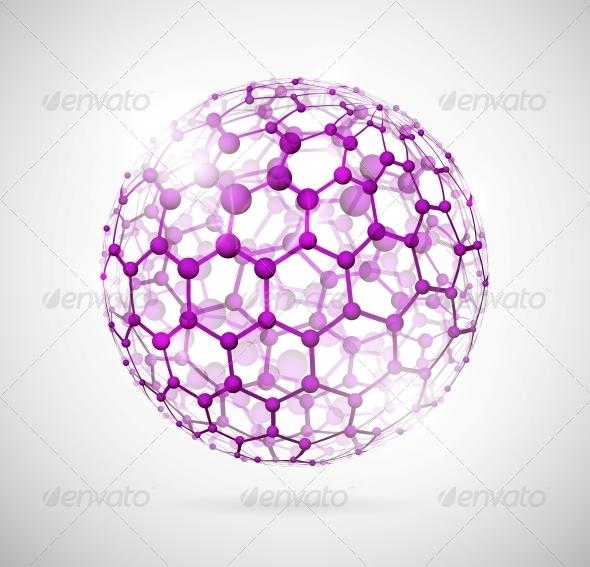 Molecular Sphere - Health/Medicine Conceptual