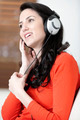 Woman listening to music - PhotoDune Item for Sale
