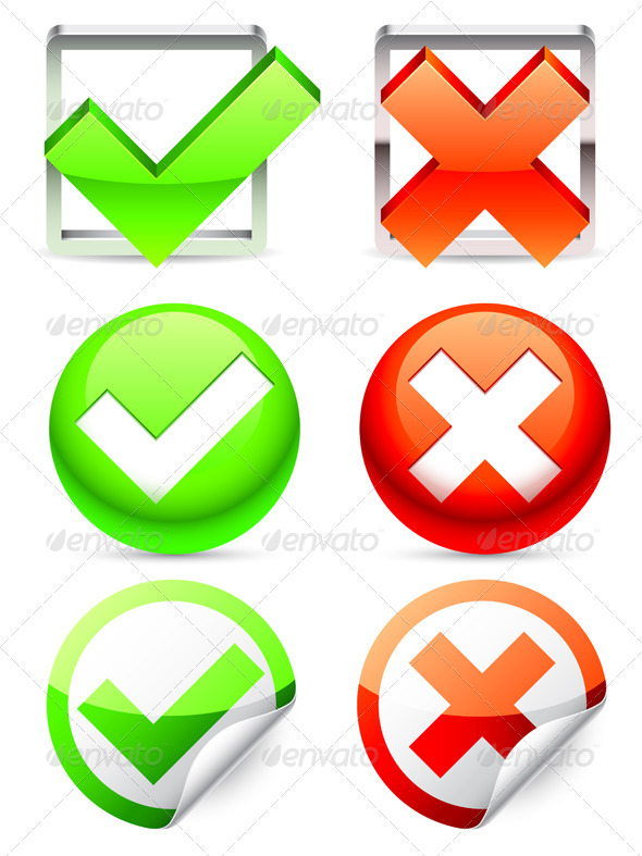 Check Symbols - Abstract Conceptual