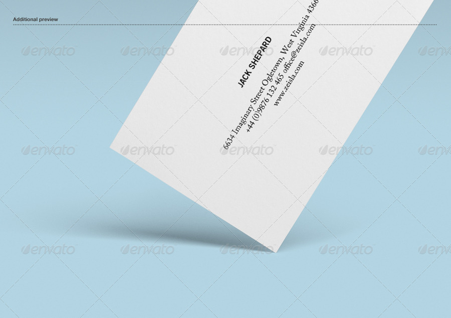 Textured Business Card Mock up by Zeisla