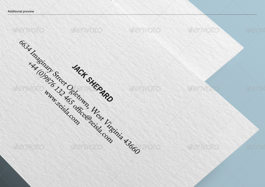 Textured Business Card Mock-up by Zeisla | GraphicRiver
