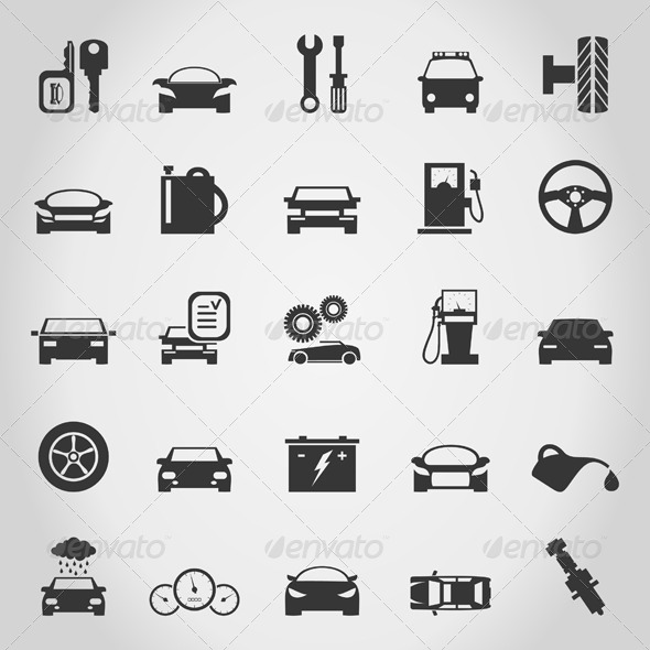 Transport Icons 5 - Man-made Objects Objects